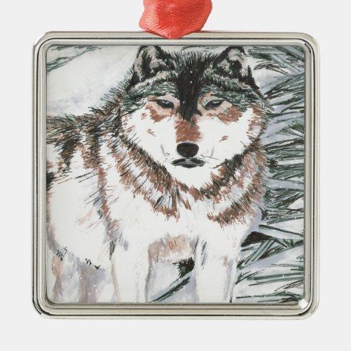 Wolf Christmas Tree Ornaments