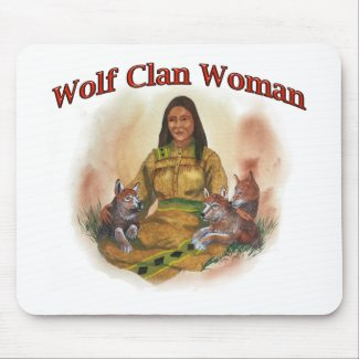 Wolf Clan Woman Mouse Pad