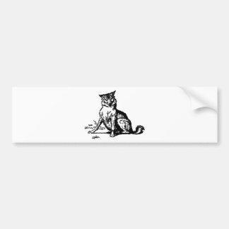 wolf-clip-art-2 bumper sticker