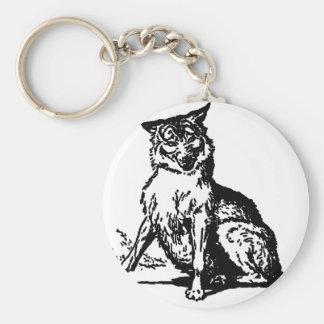 wolf-clip-art-2 llavero redondo tipo pin