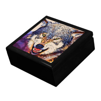 WOLF CLOSE-UP Keepsake Box