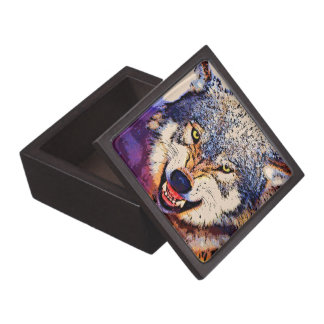 WOLF CLOSE-UP Trinket Box