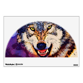 WOLF CLOSE-UP Wall Decal
