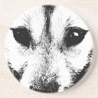 Wolf Coaster Husky Wolf Dog Art Coaster & GIfts
