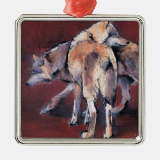 Wolf Composition 2001 Metal Ornament