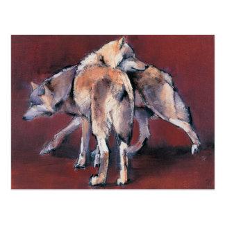 Wolf Composition 2001 Postcard