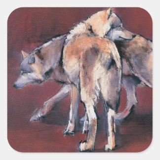 Wolf Composition 2001 Square Sticker