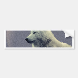 Wolf contemplation car bumper sticker