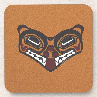 Wolf cork coaster