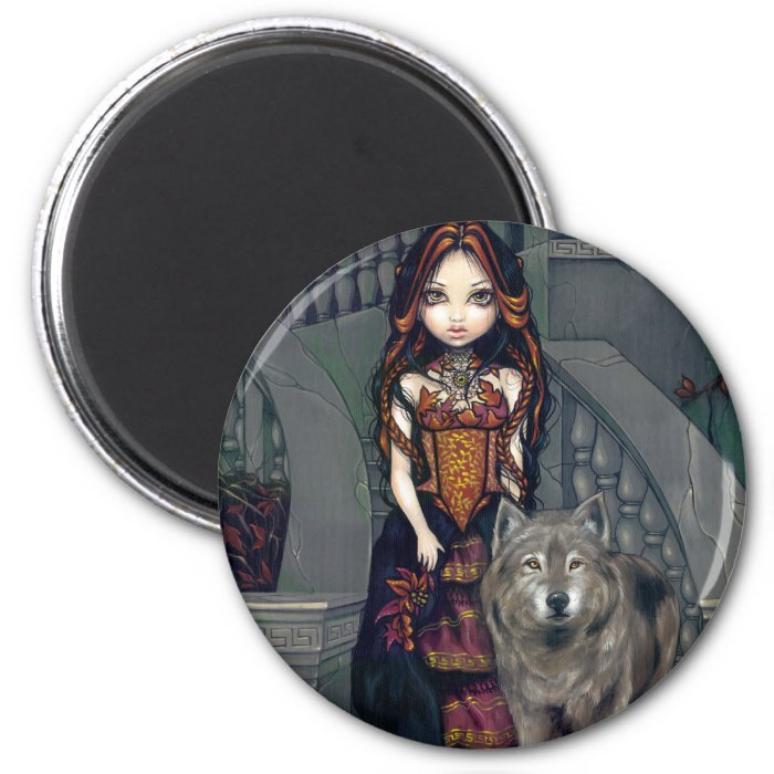 """Wolf Countess"" Magnet"