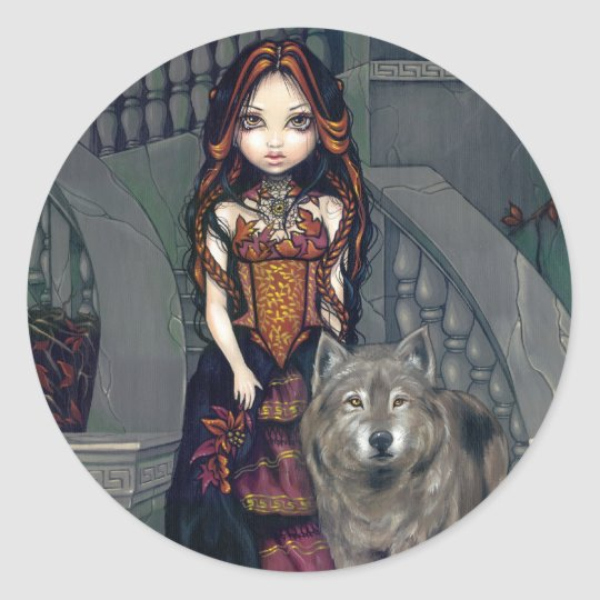 """Wolf Countess"" Sticker"