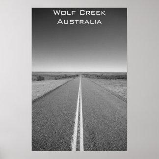Wolf Creek Australia - Black and White - Poster