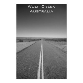 Wolf Creek Australia - blanco y negro - poster Póster