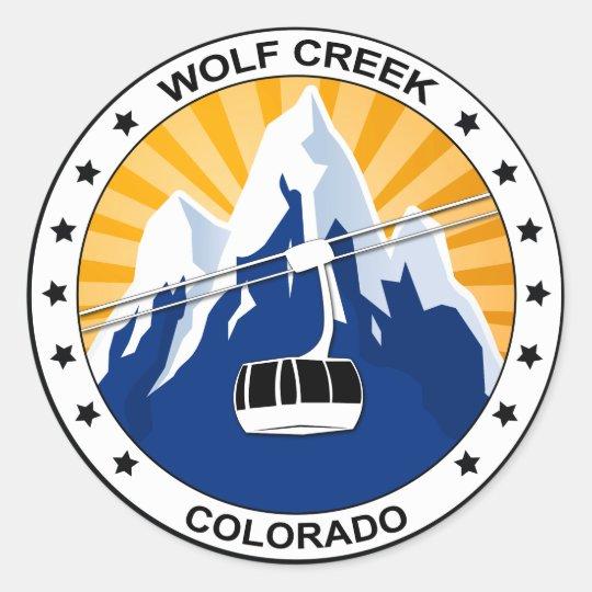 Wolf Creek Ski oval sticker decal skiing skier Colorado skiing Pagosa Springs