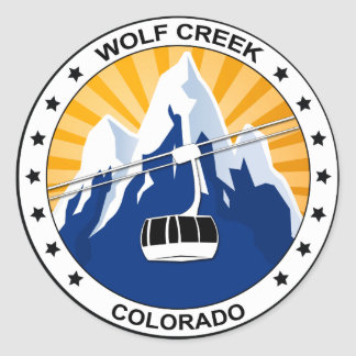 Wolf Creek Colorado Pegatina Redonda