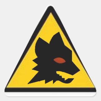 Wolf Crossing Sticker