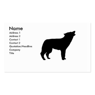 wolf crying business card