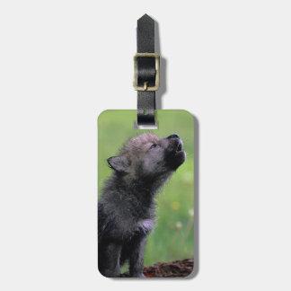 Wolf Cub Howling Bag Tag