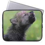 Wolf Cub Howling Laptop Sleeve