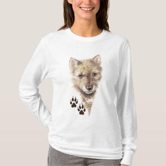 Wolf Cub, Pup, Nature Animal Tracks T-Shirt