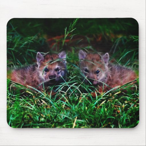 Wolf Cubs Mouse Pad
