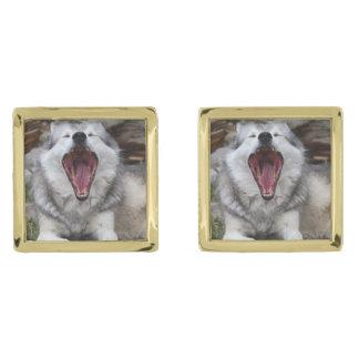 wolf cufflinks