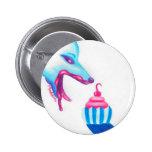 Wolf Cupcake Love Pinback Button