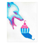 Wolf Cupcake Love Post Cards