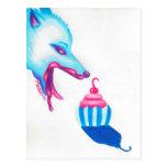 Wolf Cupcake Love Postcard