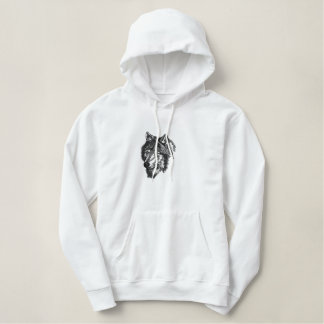 WOLF Custom Embroidery Embroidered Hoodie