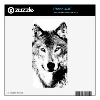 Wolf Decal For iPhone 4