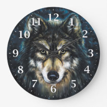 Wolf Decorative Wall Clock