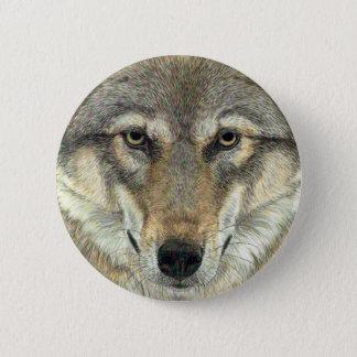 Wolf Design Pinback Button