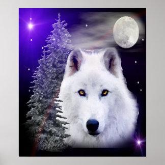 Wolf digital art poster
