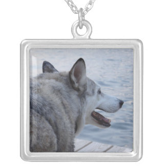 Wolf Dog at Cayuga Lake NY Custom Necklace