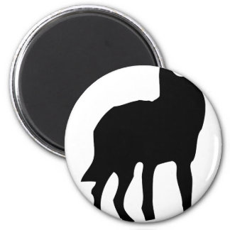 wolf dog icon magnet