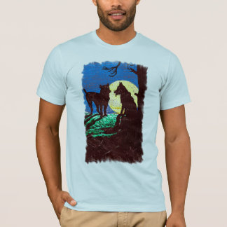Wolf Dog Moon T-Shirt