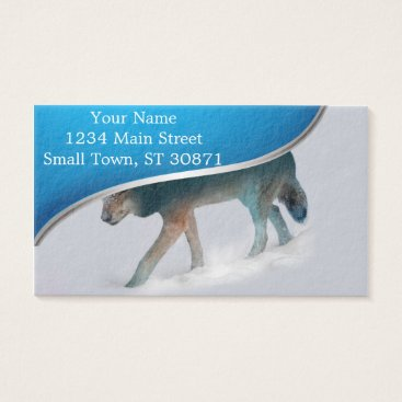 USA Themed Wolf double exposure - wolf forest - wolf usa business card