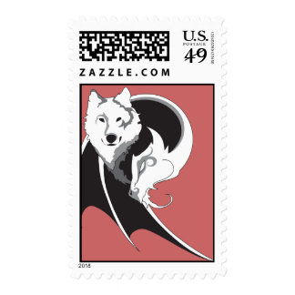 Wolf & Dragon Postage Stamps