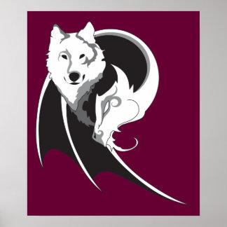 Wolf Dragon Print