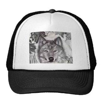 Wolf Drawing Trucker Hat