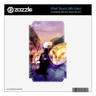 Wolf dreamcatcher iPod touch 4G decals