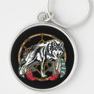 Wolf Dreamcatcher Keychain