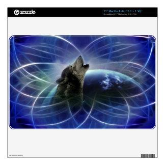 Wolf dreamcatcher MacBook skins