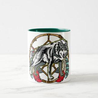 Wolf Dreamcatcher Mugs