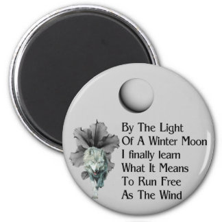 Wolf Dreams 2 Inch Round Magnet