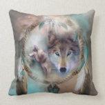Wolf - Dreams Of Peace Art Decorator Pillow