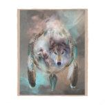 Wolf - Dreams Of Peace Art Fleece Blanket