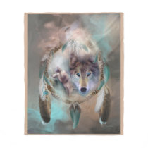 Wolf - Dreams Of Peace Art Fleece Blanket