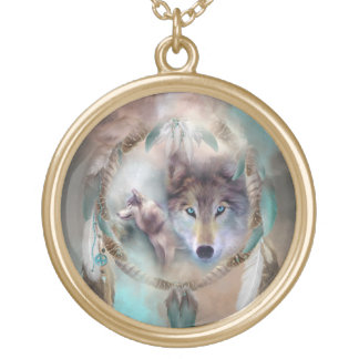 Wolf - Dreams Of Peace Wearable Art Necklace